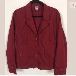 Fashion big blazer jacket 24W red 3 Button